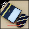 Handmade Craft Paper Hot Stamped Custom Logo Silk Necktie Gift Box